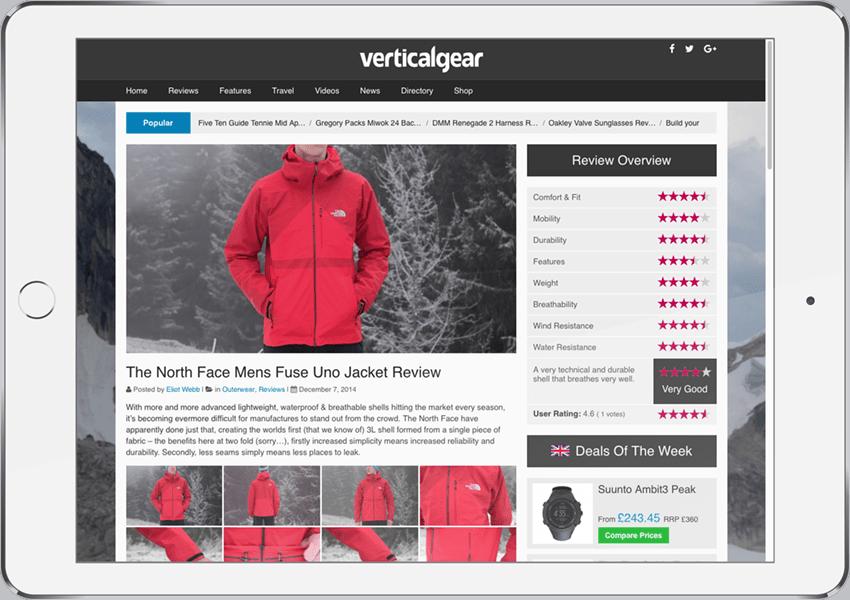 Vertical Gear Website Design Development